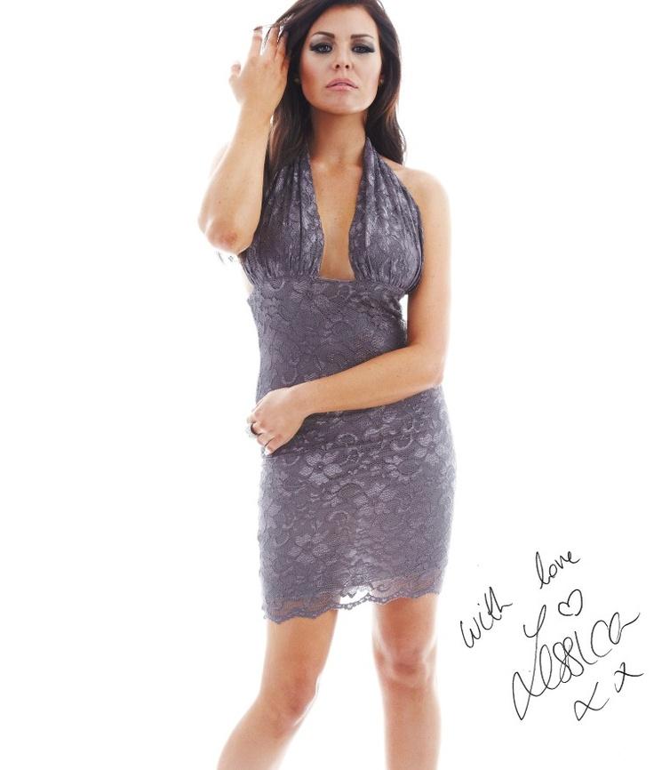 £60 Jessica Wright Lace Halter Mini Dress