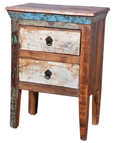 Reclaimed wood night stand. We are manufacturer and exporters of all type  of indian reclaimed