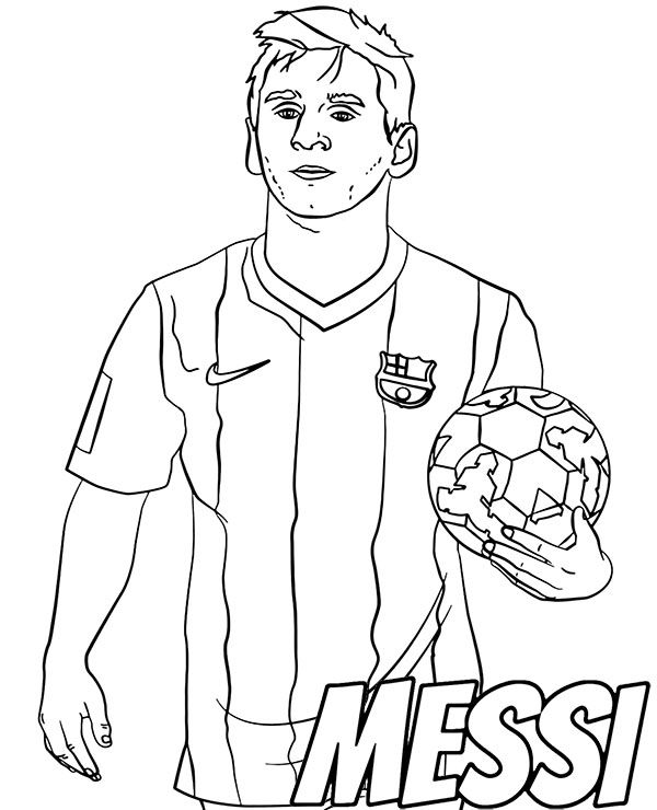 Lionel Messi Free Coloring Page Football Coloring Pages Sports Coloring Pages Free Coloring Pages
