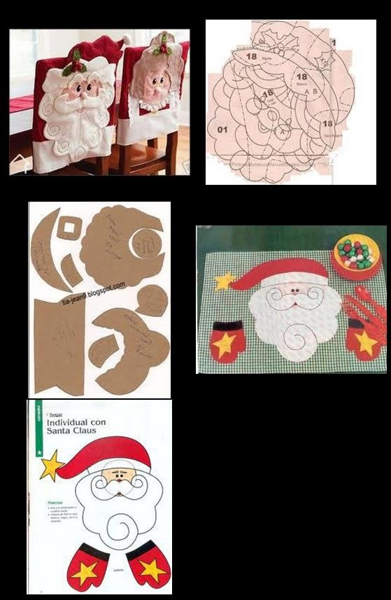 Capas de cadeira para o Natal