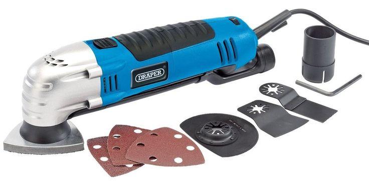 Electric Multi Tool Corded Kit Oscillating Wood Metal Quick Change 300 Watt