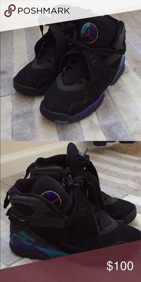 Jordan Aqua 8's Good condition (lightly worn) Original box not included Jordan Shoes Athletic Shoes