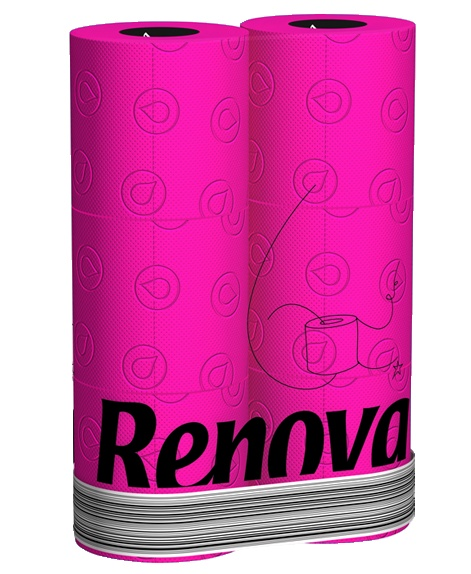 papel higinico colorido pink papertoilet