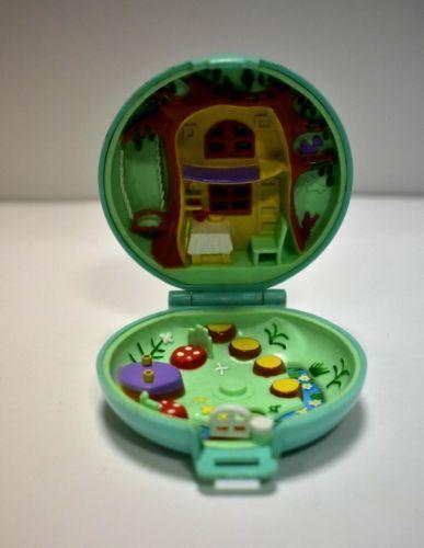 Polly-Pocket-mini-BLUEBIRD-VINTAGE-1992-juweled-Forest-Bijou-foret