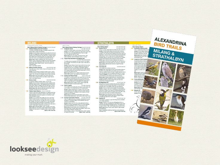 Alexandrina Council Bird Trails Brochure - Designed by Looksee Design