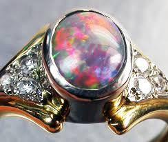 Image result for mens opal ring settings