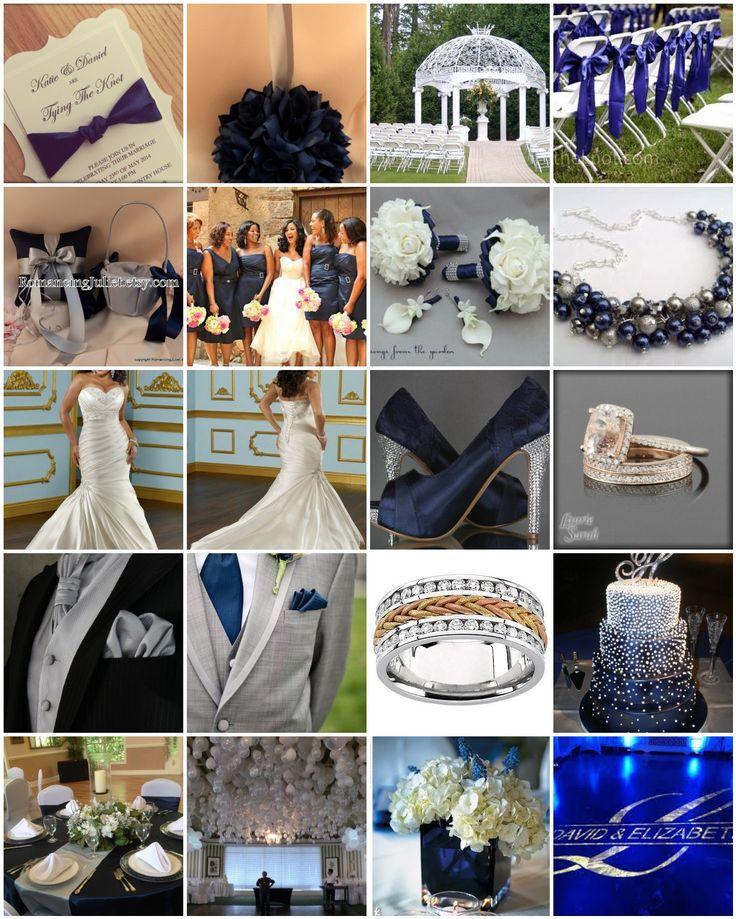Dallas Cowboys. Navy Blue and Silver Wedding