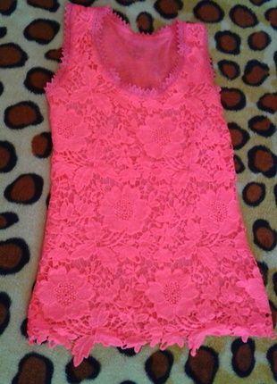 Kup mój przedmiot na #vintedpl http://www.vinted.pl/damska-odziez/koszulki-na-ramiaczkach-koszulki-bez-rekawow/10277881-neonowa-rozowa-bokserka