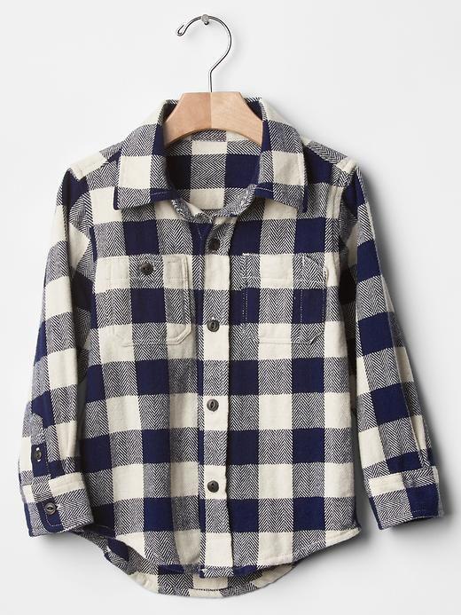 Checkered flannel carpenter shirt