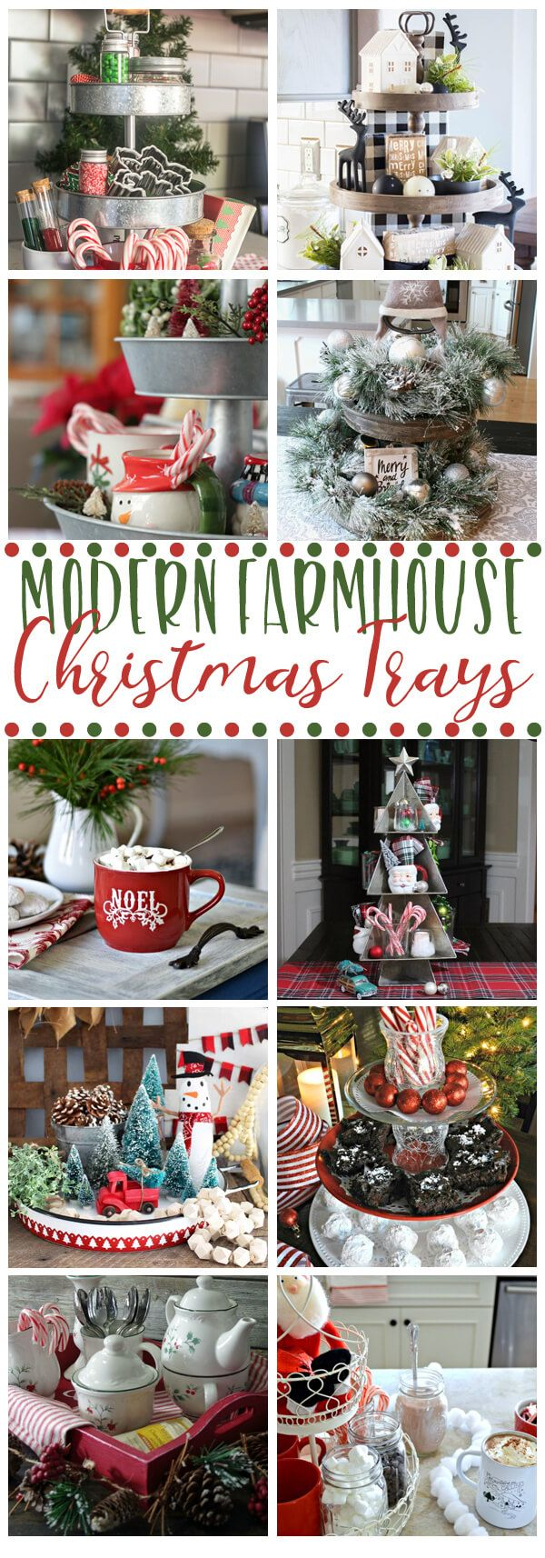QUICK & EASY Modern Farmhouse Christmas Tray IDEAS for Decorating Your Home and Kitchen #farmhouse #farmhousechristmas