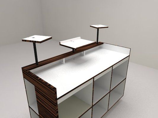 rendering of the proposed dj table record storage decks table pinterest los angeles the. Black Bedroom Furniture Sets. Home Design Ideas