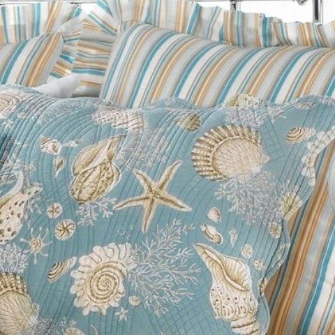 Natural Shells Standard Pillow Sham Beach Condo