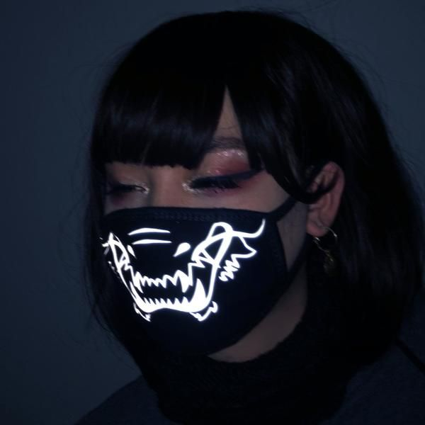 Reflective Dragon Tiger Mouth Mask Mf01007 Fashion Face Mask