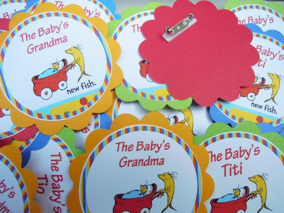 Dr seuss Baby Shower name tags Match your theme by Lilmisscupcake2, $1.00