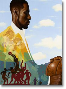 be DRIVEN- i love it kadir nelson is paying homage to Lebron James for coca cola