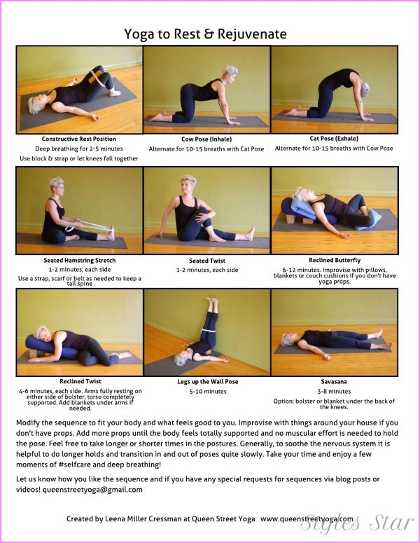 Image Result For Restorative Yoga Poses Without Props