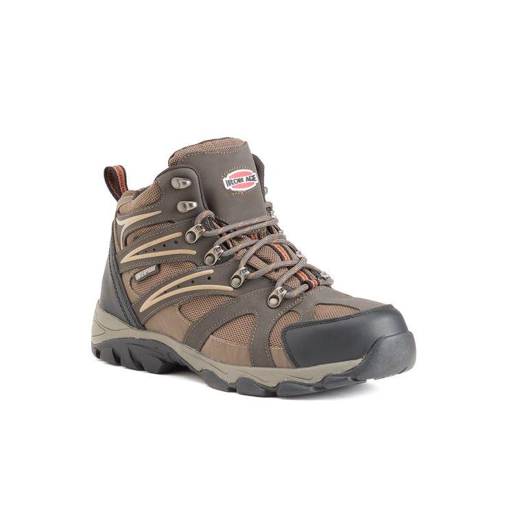 Iron Age Surveyor Men's Waterproof Steel-Toe Hiking Boots, Size: medium (11.5), Brown