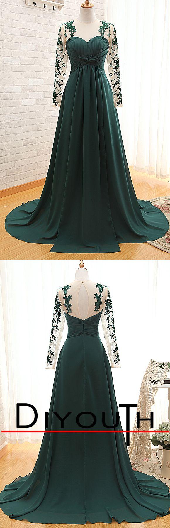 Long dark green dress  Paola Cerda a on Pinterest