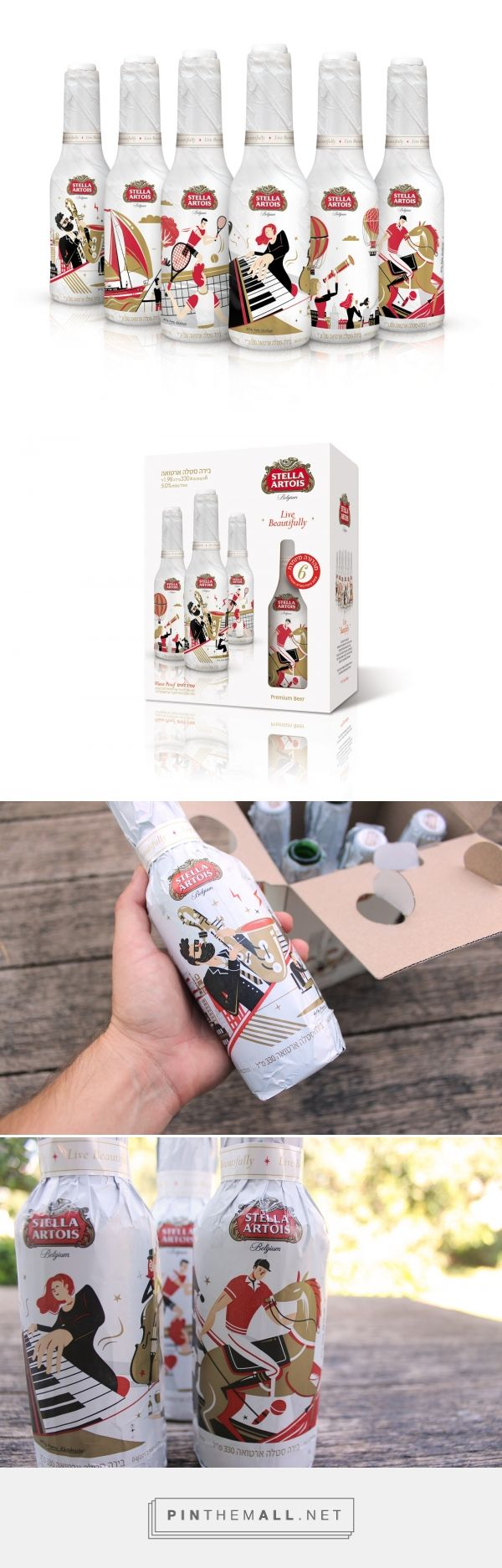 Stella Artois Special Edition packaging design GNS Advertising Agency: Yotam Sharon  Illustrator: Pierre Kleinhouse http://www.packagingoftheworld.com/2016/08/stella-artois-special-edition.html