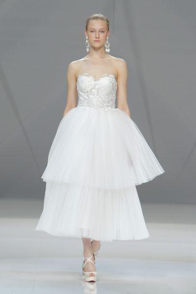 Vestidos de novia cortos 2017: ¡45 diseños encantadores! Image: 36