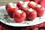 Freshly hulled strawberries are stuffed with an amazing cheesecake mousse. Eat as a snack or serve as a healthy dessert!Last week I got to work with the California Strawberry commission, you guys. It was...