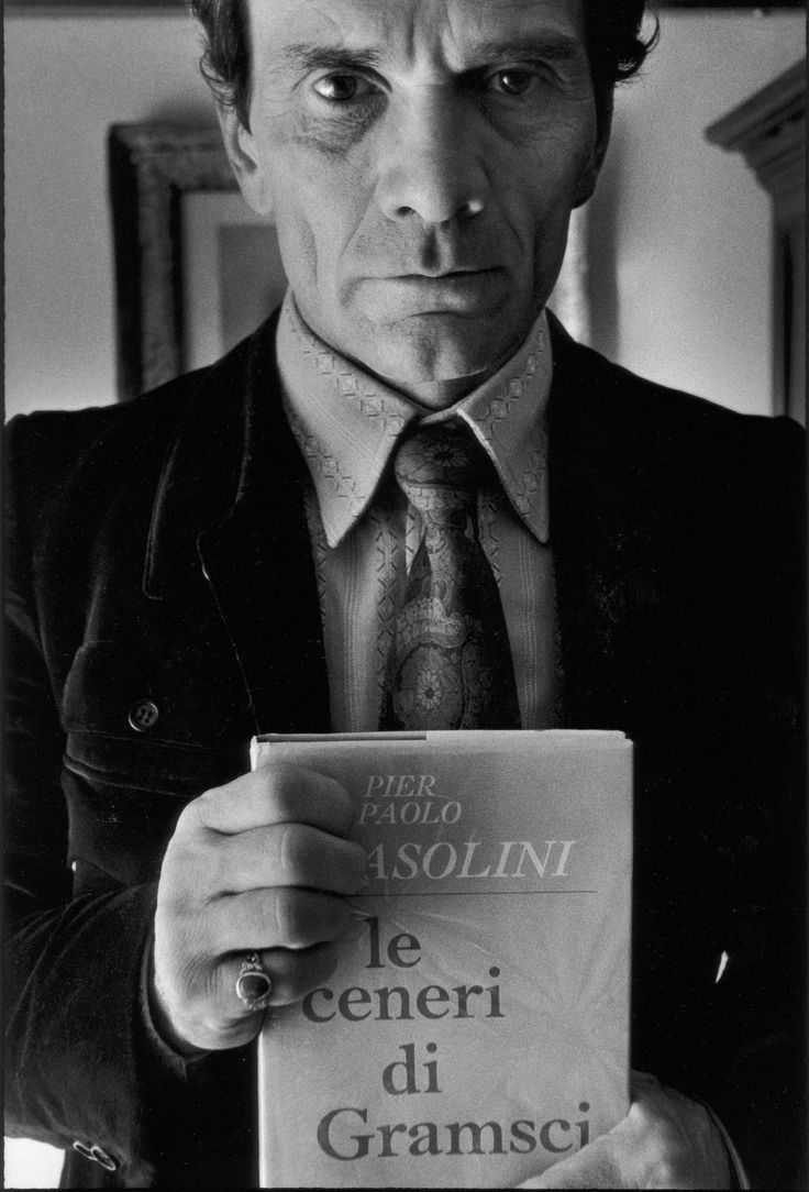 Pier Paolo Pasolini photographed by Sandro Becchetti.