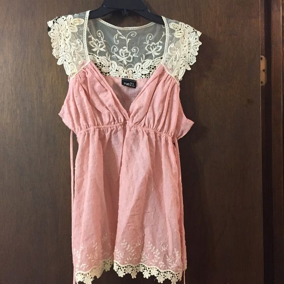 Rue 21 top Brand new without tags Rue 21 casual top. Cute for summer Rue 21 Tops Tees - Short Sleeve