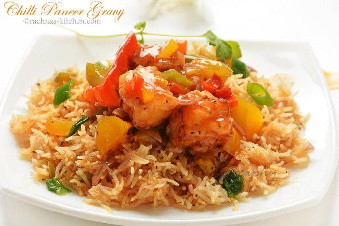 Chilli Paneer Gravy Recipe, How to make chilli paneer - Rachna's Kitchen