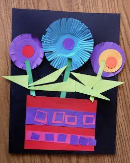 Earl Warren Arts: Kindergarten : Patterned Paper Flower Pots