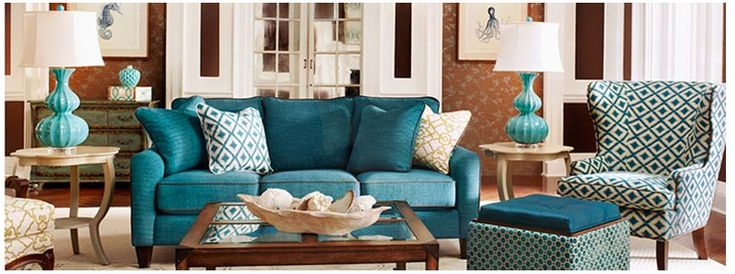 Blue And Red Living Room Pinterest