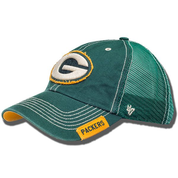 '47 Brand Distressed Green Bay Packers Hat (Green)
