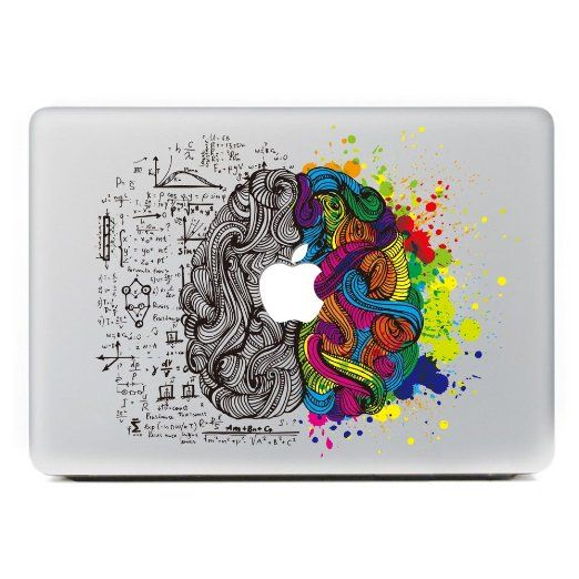 "iCasso Left and Right Brain Vinyl Decal Sticker Skin for Apple Macbook Pro Air Mac 13"" inch / Unibody 13 Inch Laptop (#3)"