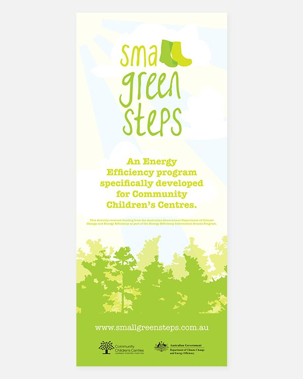 Small Green Steps—branding—pull up banner