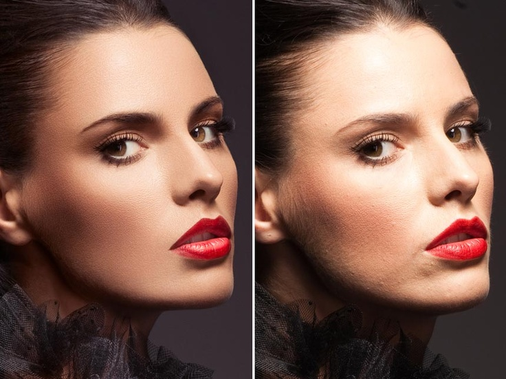 Photoshop Before And After - Esther Honig Photo Series