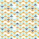 Tissu Triplet orange triangle x 10cm