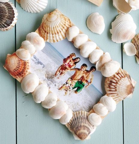 Decorative items made of shells