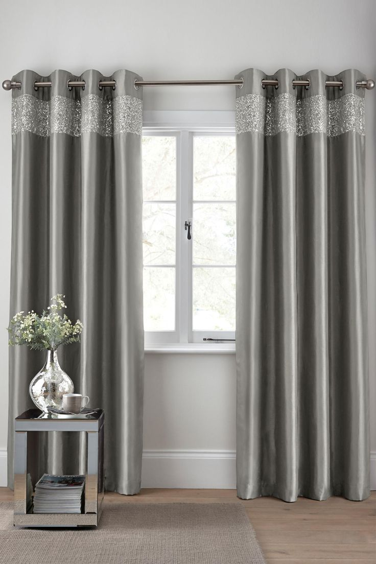 Next Bedroom Curtains Buy Shimmer Band Eyelet Curtains From The Next Uk Online Shop