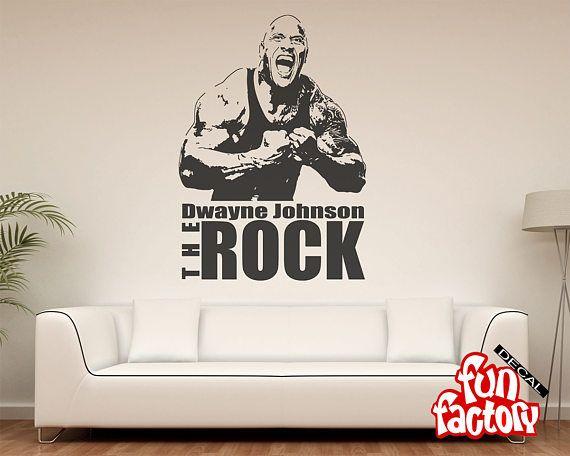 Dwayne Johnson The Rock Wall Decal Sticker Wrestlemania WWE Part 49