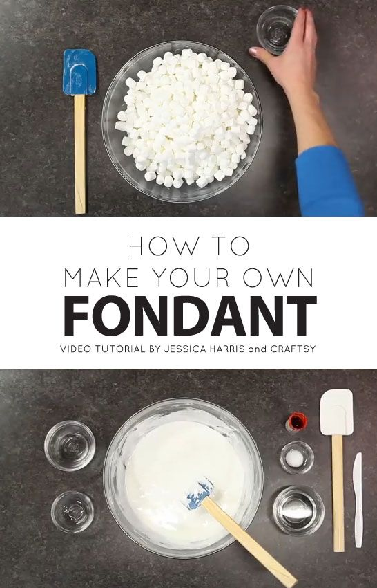 How to make fondant from marshmallows | a recipe and video tutorial | by Jessica Harris and Craftsy on The Cake Blog