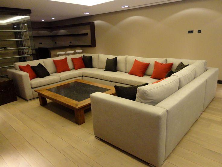 games room. custom made sofa.