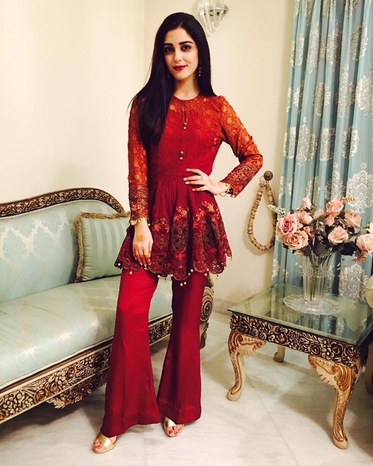 Maya ali looking gorgeous in MARIA B on EID #GO DESI!!!!