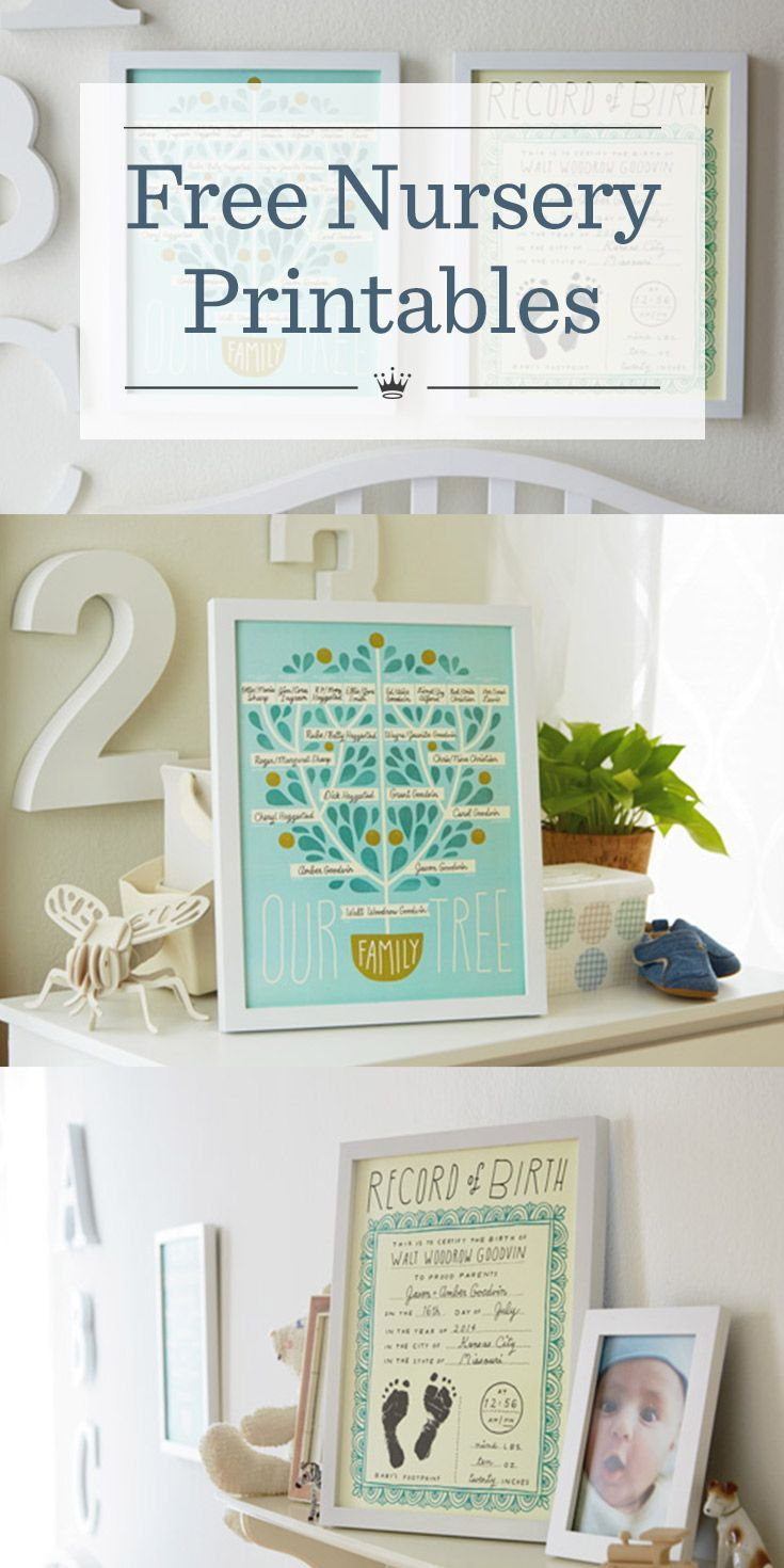 newsworthy nursery décor free family tree and birth record
