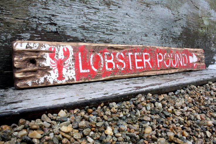 Maine Lobster Pound Sign Nautical Sign Lobster Pot Beach Decor Directional Sign Rustic Weathered Nautical Decor Bar Harbor Maine Acadia by TheUnpolishedBarn on Etsy https://www.etsy.com/listing/518694217/maine-lobster-pound-sign-nautical-sign