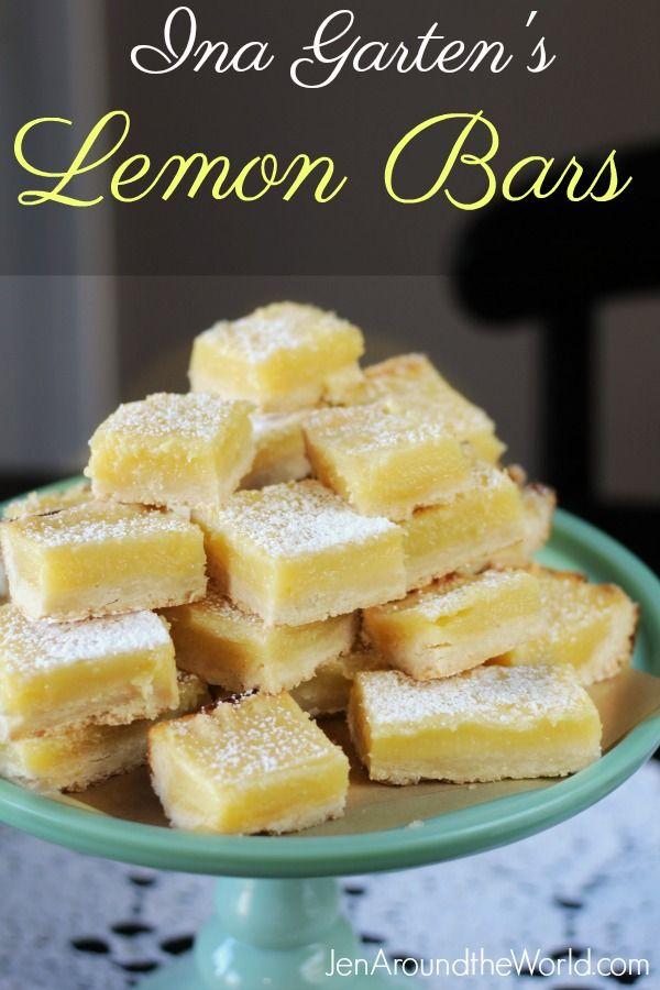 Ina Garten's Lemon Bars - the perfect bite of lemon!