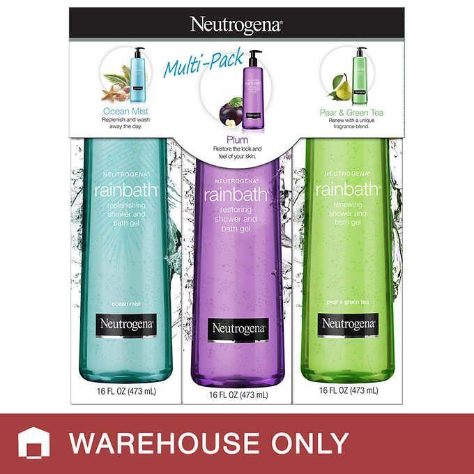 Neutrogena Rainbath Variety 3 Pack 16 Fl Oz Each Neutrogena
