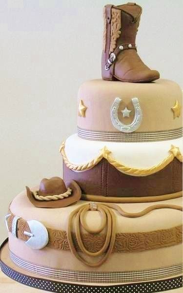 343 best WESTERN AND RODEO CAKES images on Pinterest Western cakes
