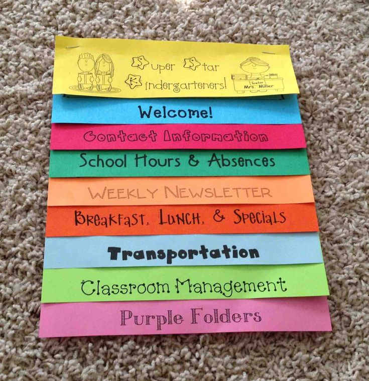 Back to School: Parent Handbook Flip Book! EDITABLE so that you can make for your classroom!
