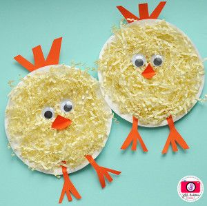 poussin    Chickie Paper Plate Crafts aren't only perfect for learning, they're also great for making anybody smile. These paper craft birds are just the cutest, and they're even more precious when you put your special touches on them.