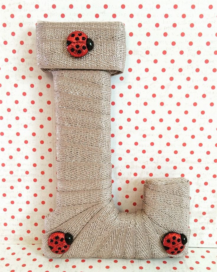 Ladybug Decor, Ladybug Theme Nursery, Decorative Letters, Wooden Letters, Personalized Gift, Monogrammed Baby Gift, Letter for Frame by TightlyWoundDesigns on Etsy (null)