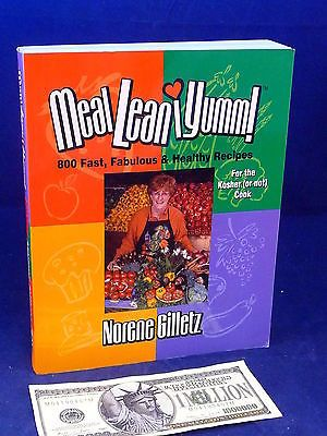 Kosher Cookbook MEAL LEAN I YUMM Norene Gilletz Kosher Healthy Books:Cookbooks www.internetauctionservicesllc.com $49.99